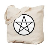 Star Pentacle Inside Circle Tote Bag