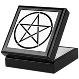 Star Pentacle Inside Circle Keepsake Box