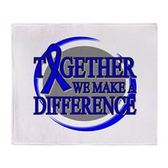 Colon Cancer Support Ribbon Throw Blanket