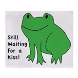 Frog Prince First Kiss Throw Blanket