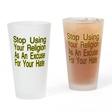 Stop Using Religion Pint Glass