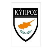 Cyprus Flag Patch (in Greek) Postcards (Package of