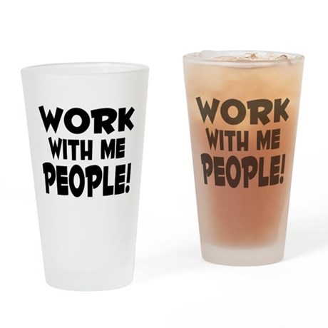 Work People Pint Glass