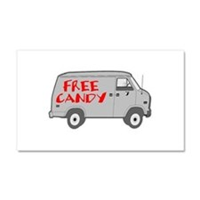 Free Candy Car Magnet 12 x 20