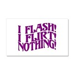 Flirty Flasher Car Magnet 12 x 20