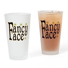 Fancy Face Pint Glass
