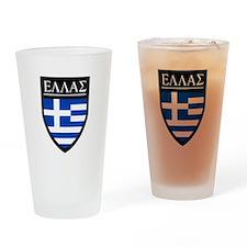 Greece (Greek) Patch Pint Glass
