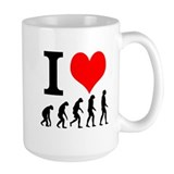I Love Evolution Coffee Mug