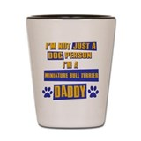 Miniature bull terrier Daddy Shot Glass