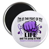 "Fight Of My Life Hodgkin's Lymphoma 2.25"" Magnet ("