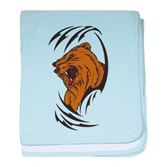 Tribal Bear baby blanket