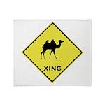 Camel Crossing Throw Blanket
