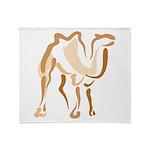 Stylized Camel Throw Blanket
