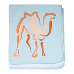 Stylized Camel baby blanket