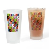 Pop Art Cat Pint Glass