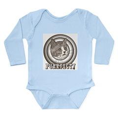 Retro Purrfect Cat Long Sleeve Infant Bodysuit
