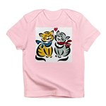 Yellow Cat Loves Grey Cat Infant T-Shirt