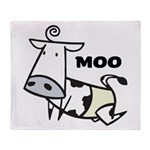 Moo Cow Throw Blanket