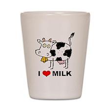 I Love Milk Shot Glass