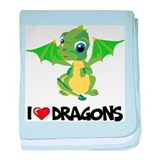 I Love Dragons baby blanket