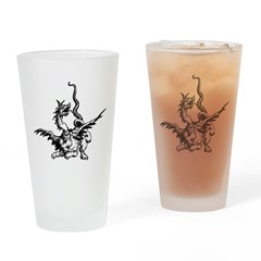 Dragon Illustration Pint Glass