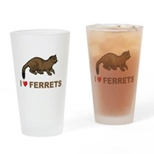 I Love Ferret Pint Glass