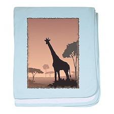 Vintage Giraffe baby blanket