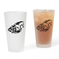 Flaming Horse Pint Glass