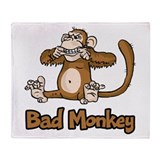 Bad Monkey Throw Blanket