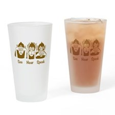See No Evil Monkey Pint Glass