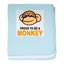 Proud To Be A Monkey baby blanket