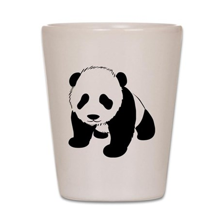 Cute Baby Panda Shot Glass