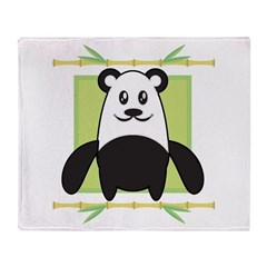 Cute Panda Throw Blanket