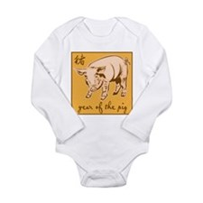 Year Of The Pig Long Sleeve Infant Bodysuit