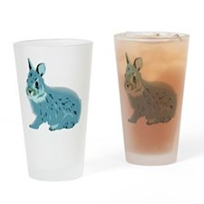 Hand Sketched Rabbit Pint Glass
