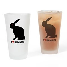 I Love Bunnies Pint Glass