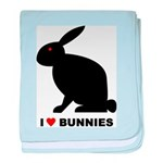 I Love Bunnies baby blanket