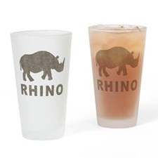 Vintage Rhino Pint Glass