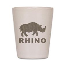 Vintage Rhino Shot Glass