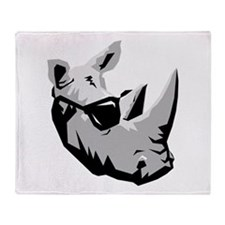 Cool Rhinoceros Throw Blanket
