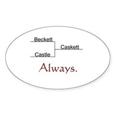 Beckett Castle Caskett Always Sticker (Oval)