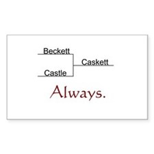 Beckett Castle Caskett Always Sticker (Rectangle)