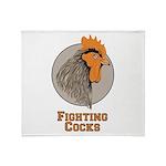 Fighting Cocks Throw Blanket
