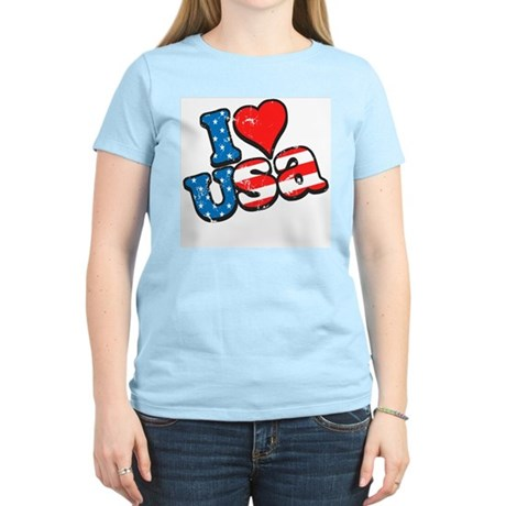 I Love USA Women's Light T-Shirt
