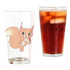 Cute Cartoon Squirrel Pint Glass
