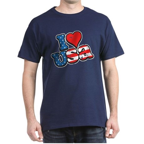 I Love USA Dark T-Shirt