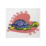 Heart Turtle Throw Blanket