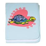 Heart Turtle baby blanket