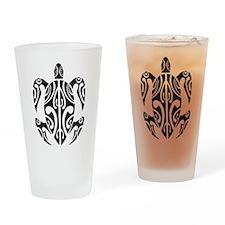 Tribal Turtle Pint Glass