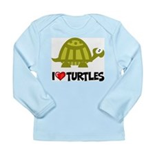 I Love Turtles Long Sleeve Infant T-Shirt